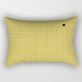 Yellow and Black Grid - Something's missing Rectangular Pillow