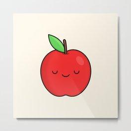 Cute Apple Metal Print