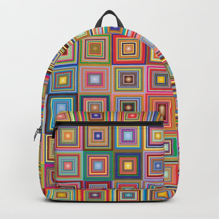retro squares Backpack