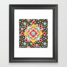 Geometric Chintz Mandala Framed Art Print