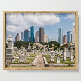 Deathly views of Downtown Houston Serving Tray