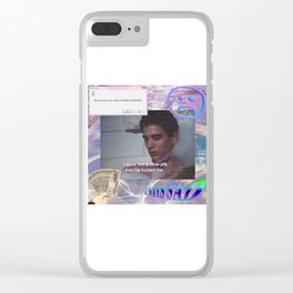 Thinking About Him Clear iPhone Case