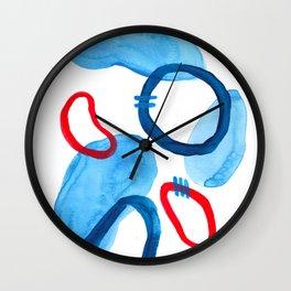 Riverside Abstract Watercolor Art Wall Clock
