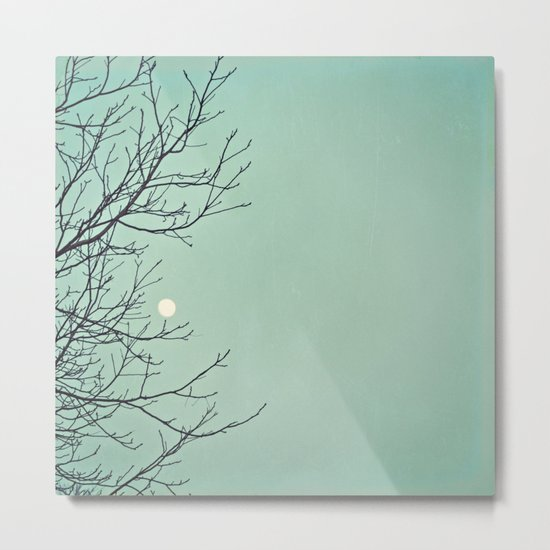 Holding the moon Metal Print