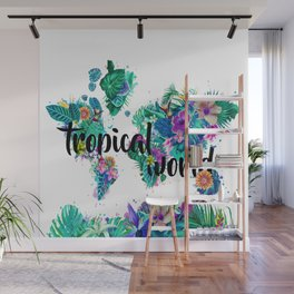world map tropical vibes #world map #tropical Wall Mural