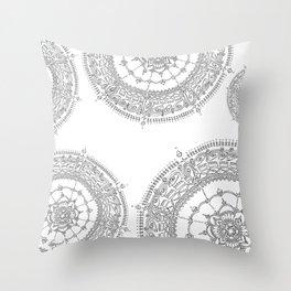 Delighting on White Background Throw Pillow