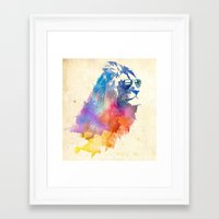 lion Framed Art Prints featuring Sunny Leo   by Robert Farkas
