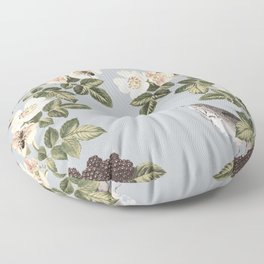 Birds and the Bees Gray Floor Pillow