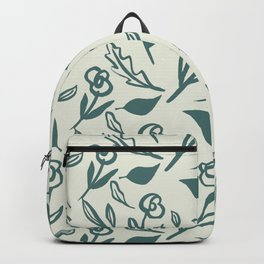 Artistic painted simple simple one colour flowers pattern Backpack