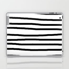 Simply Drawn Stripes in Midnight Black Laptop & iPad Skin