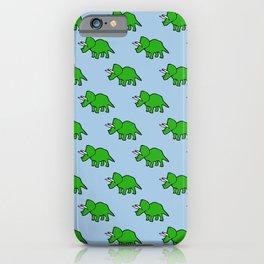 Cute Triceratops pattern iPhone Case