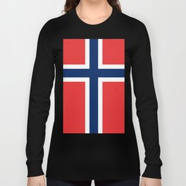 Norwegian Flag Long Sleeve T-shirt