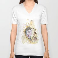 wooden V-neck T-shirts featuring Wooden Hopes. by BrittanyJanet Illustration & Photography