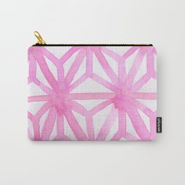 Pink Asanoha Carry-All Pouch