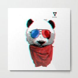 3D Panda Metal Print