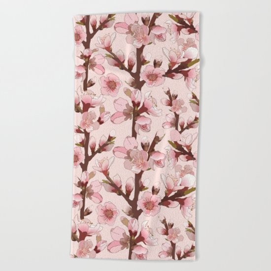 Cherry Blossom #16 Beach Towel