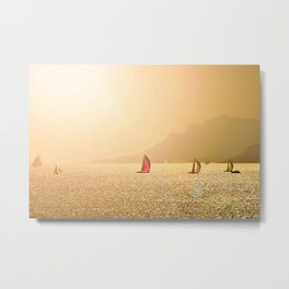 Luxury Sailing Metal Print