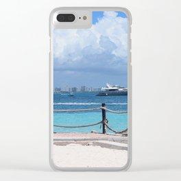 Coastal Paradise Clear iPhone Case