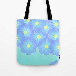 digital flowers Tote Bag
