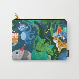 Jungle Monkey Birthday Party Carry-All Pouch