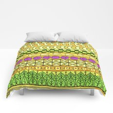 Yzor pattern 011 Yellow Things Comforters