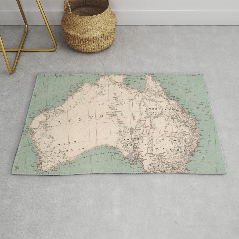 Vintage Topographic Map Of Australia