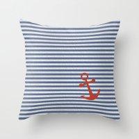 sailor Throw Pillows featuring sailor by zakumy