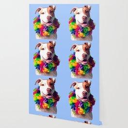 Dog in Flowers Wallpaper