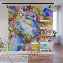 Faceted Gems Wall Mural