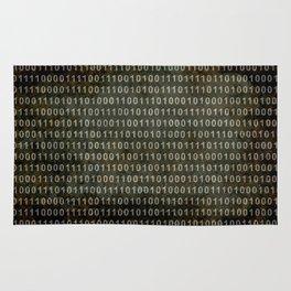 Binary Code - Distressed textured version Rug