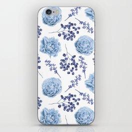Sky Blue Roses iPhone Skin
