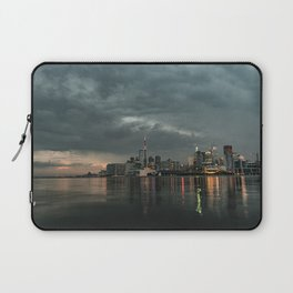 Storm clouds in the city Laptop Sleeve