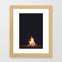 BONFIRE - FIRE - HOT - PHOTOGRAPHY Framed Art Print
