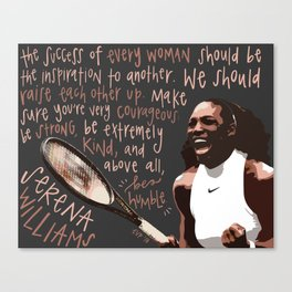 Serena Williams. Canvas Print
