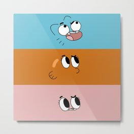 Gumball Bands Metal Print