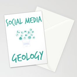 Social Media Can Wait Time For Geology Stationery Cards
