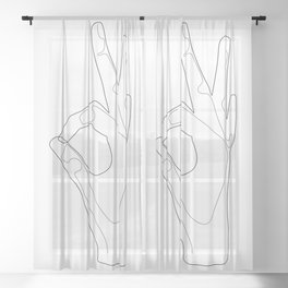 Positive Sketch Sheer Curtain