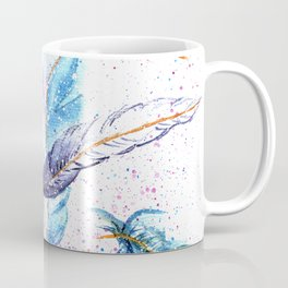 Watercolor Feather Art Pattern Coffee Mug