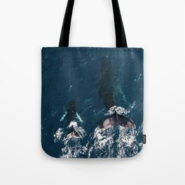 Ocean Family Whales Tote Bag