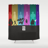 big hero 6 Shower Curtains featuring The Big Hero 6 by Travis Love