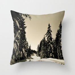 Snow Day Cypress Mountain BC Canada Throw Pillow