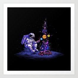 Moon Camping Art Print