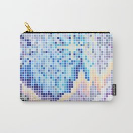 Pixelated Nebula Blue Carry-All Pouch