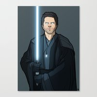 jedi Canvas Prints featuring Jedi Cas by rdjpwns