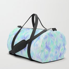 Preppy Blue Watercolor Abstract Ripples Duffle Bag