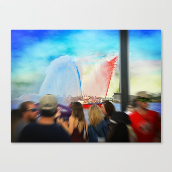 Fire Boat Canvas Print