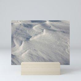 April snow drifts Mini Art Print