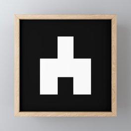 The Baxter's balaclava glyph on Black Mirror Framed Mini Art Print