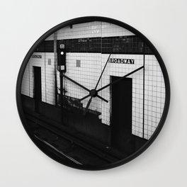New York Subway Wall Clock