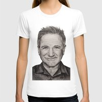 robin williams T-shirts featuring Robin Williams by Lindsay Hall